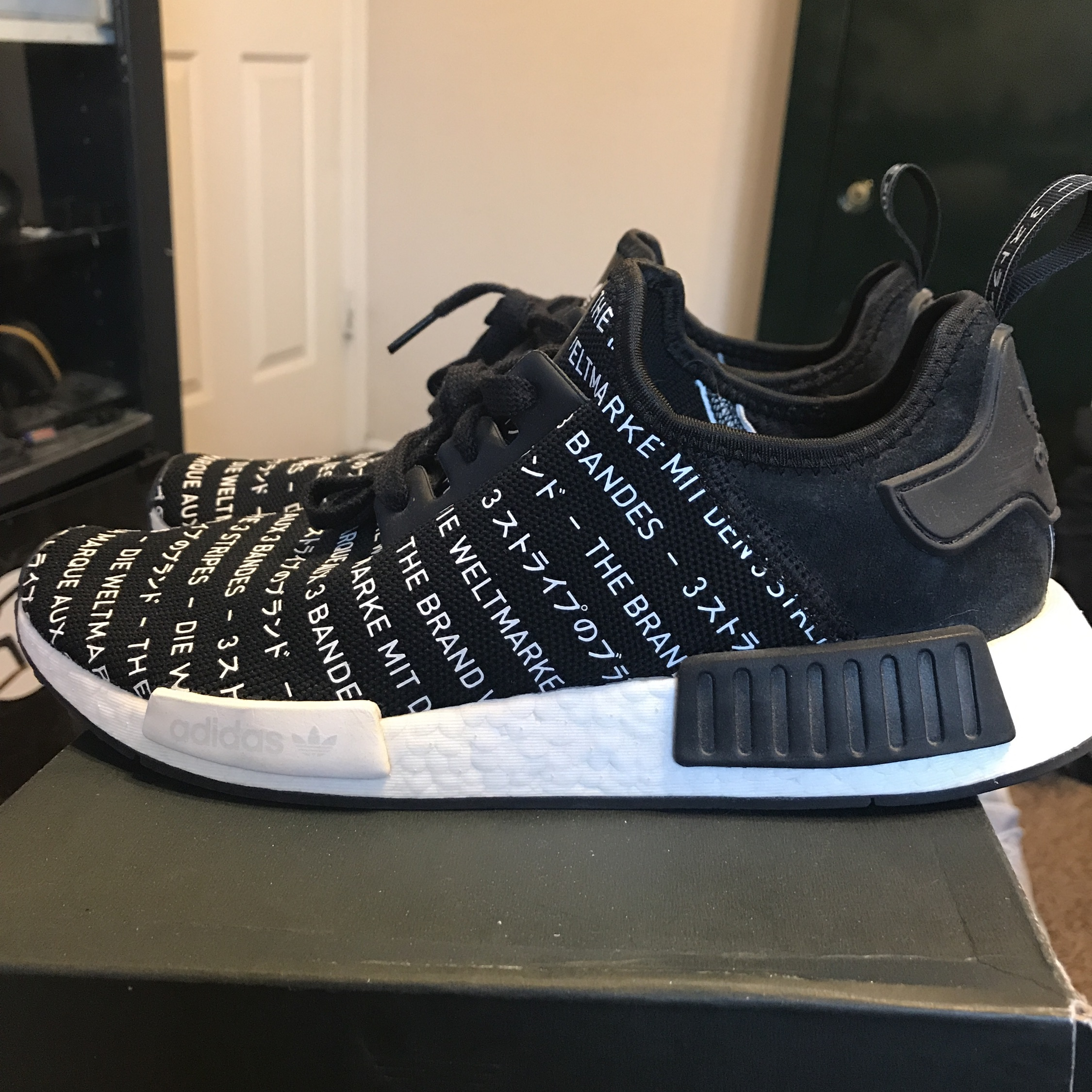 """premium selection a7a27 ef501 Nmd R1 """"Blackout"""""""