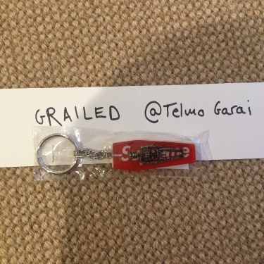Supreme Skeleton Keychain Red