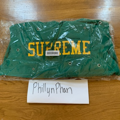 Supreme Eyelet Hooded Sweatshirt Green
