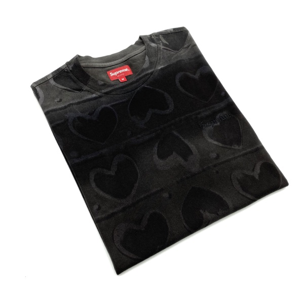 Supreme Hearts Dyed S/S T-Shirt Black