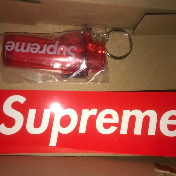 Supreme Waterproof Lighter Case Keychain Red