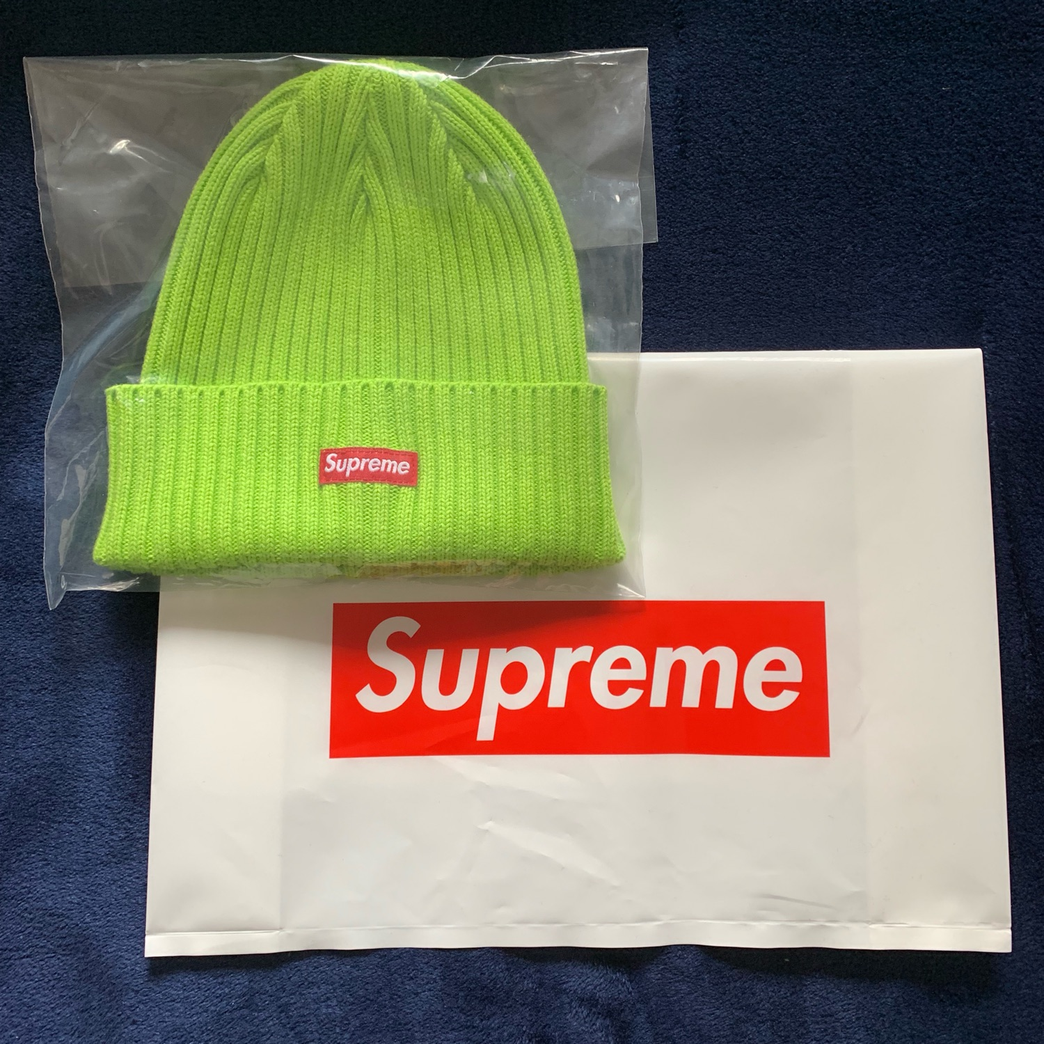42d014878 Overdyed Beanie Lime Supreme Nuovo