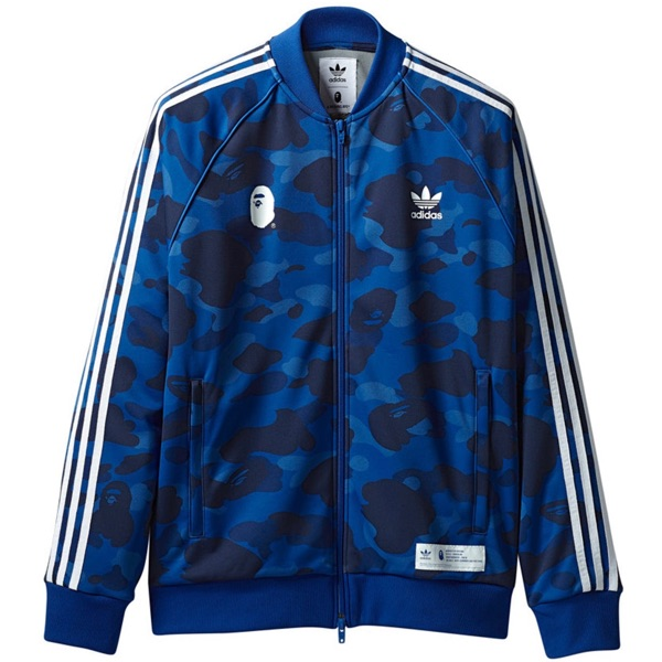 Bape X Adidas Track Top Blue Deadstock Size Large