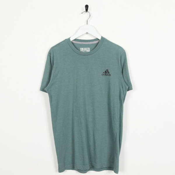 Vintage ADIDAS Small Logo T Shirt Tee Green | Small S