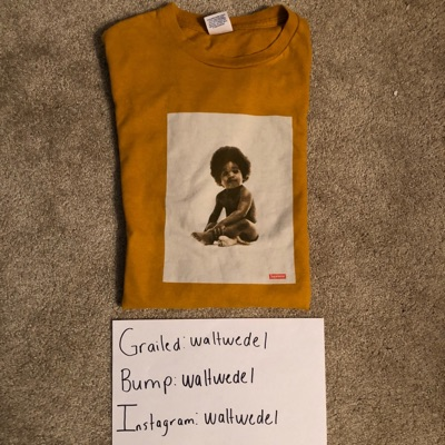 Offer! Supreme Biggie Smalls Tee Gold Large 2011