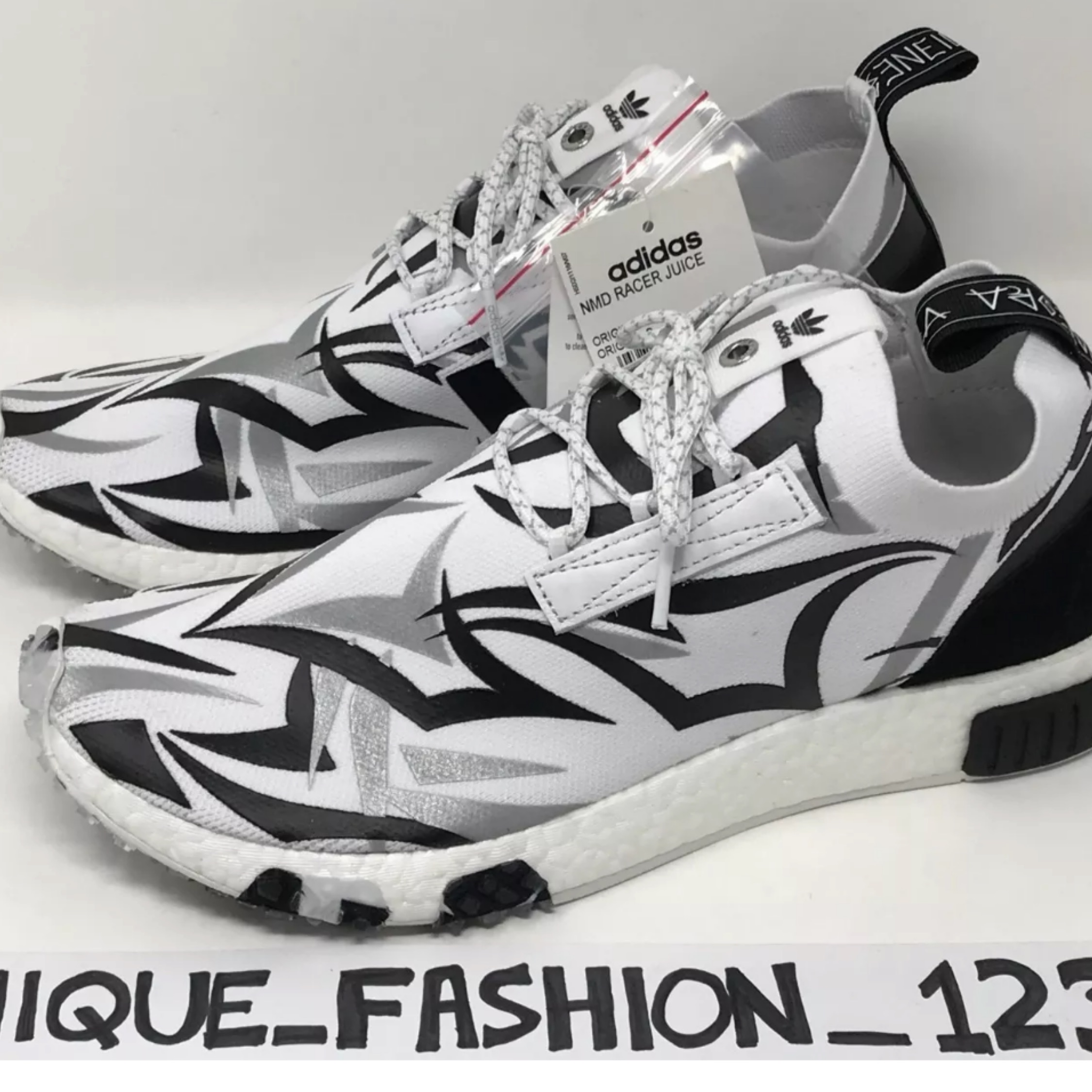 newest ee32a 3a18f Adidas Nmd Racer X Juice Consortium F+F