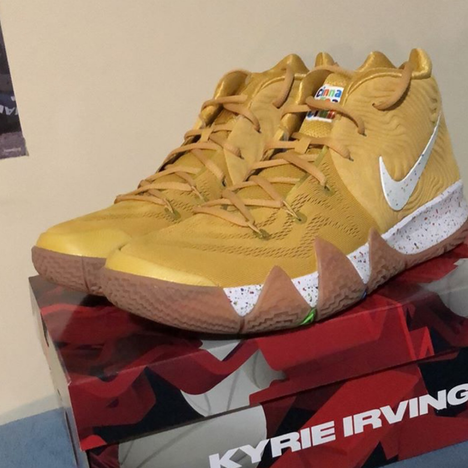 more photos 8eec4 51d6f Kyrie 4 Cinnamon Toast Crunch Size 11.5