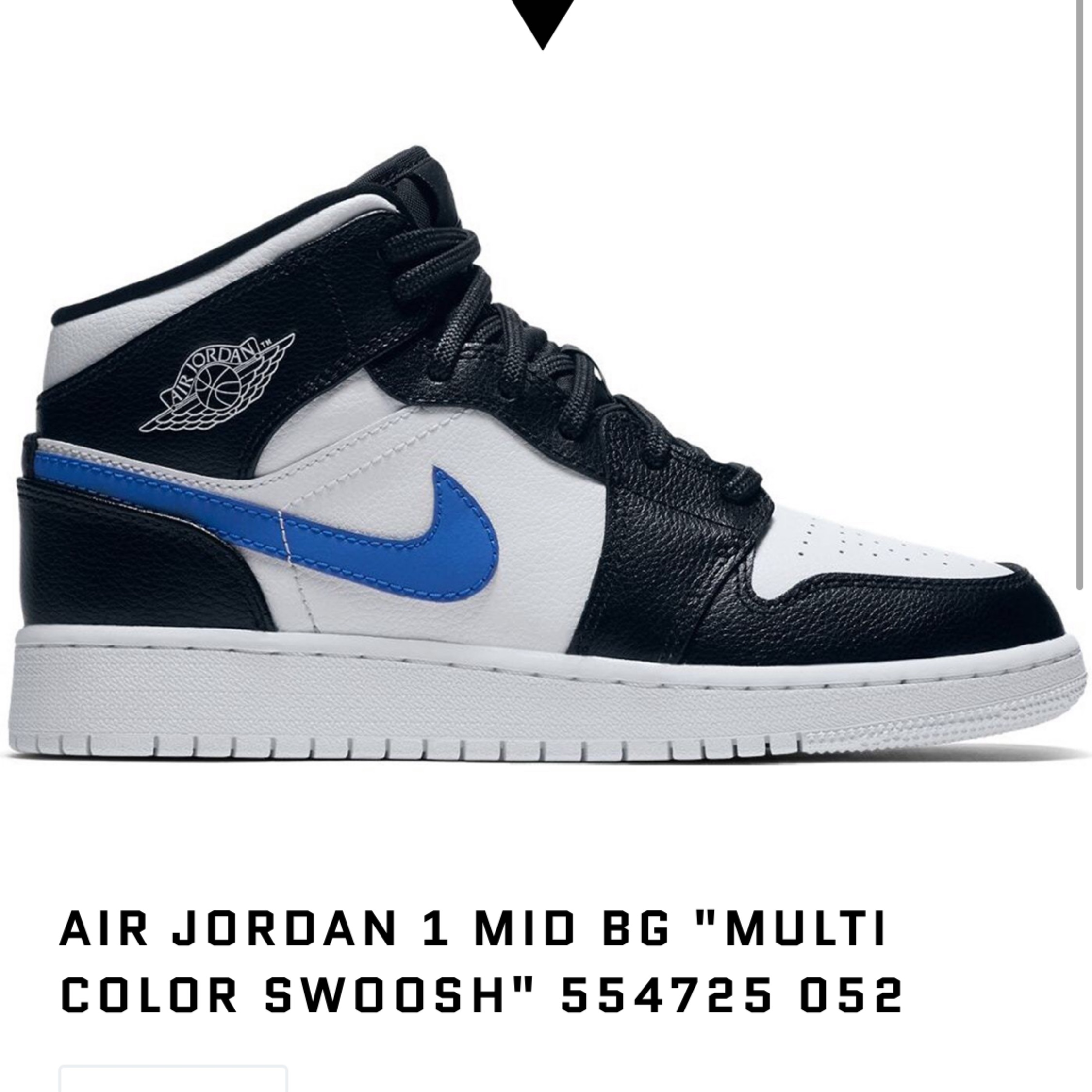 new images of buying new shop best sellers Nike Air Jordan 1 Mid Bg Colour Swoosh Y5.5