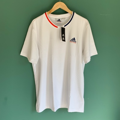 Palace adidas On Court Jacquard Tee White