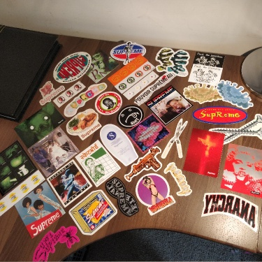 Supreme Stickers Various Years