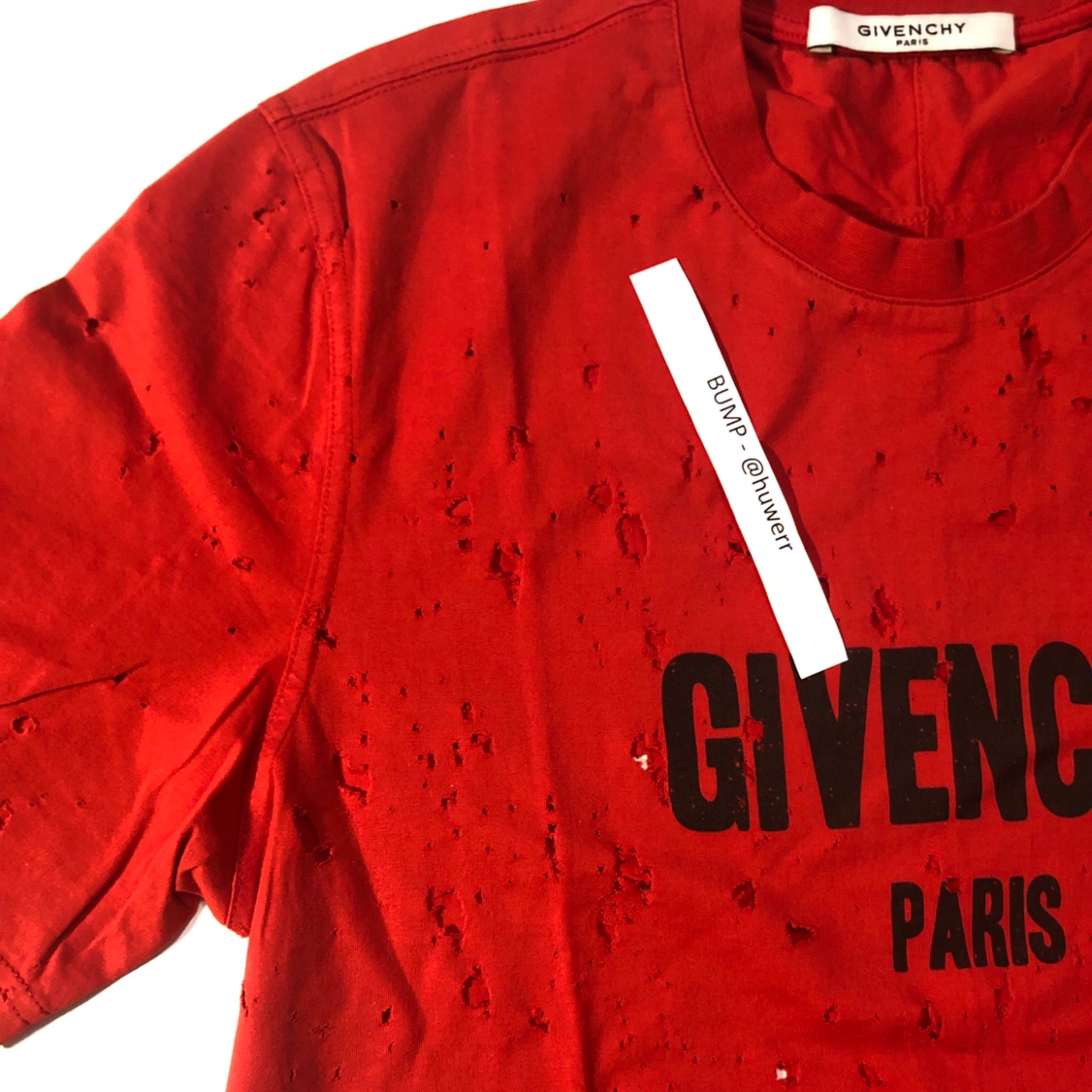 Givenchy T-Shirt Red Distressed