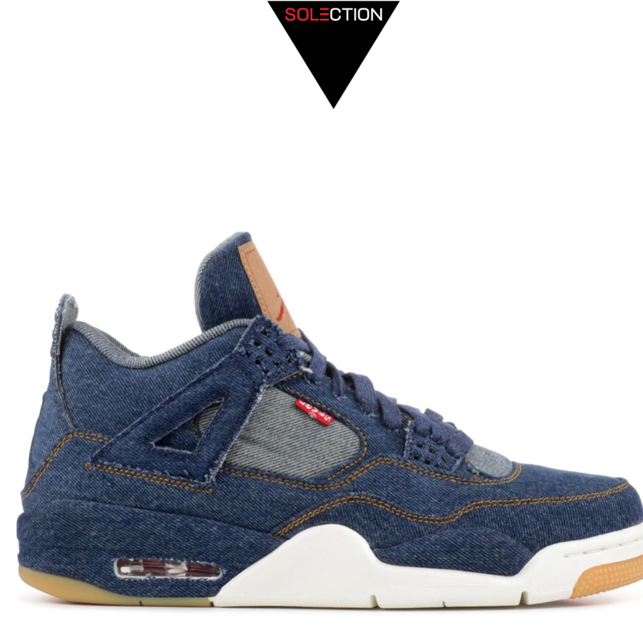 meilleur authentique af676 b9ca9 Nike Air Jordan Retro 4 Levin Denim