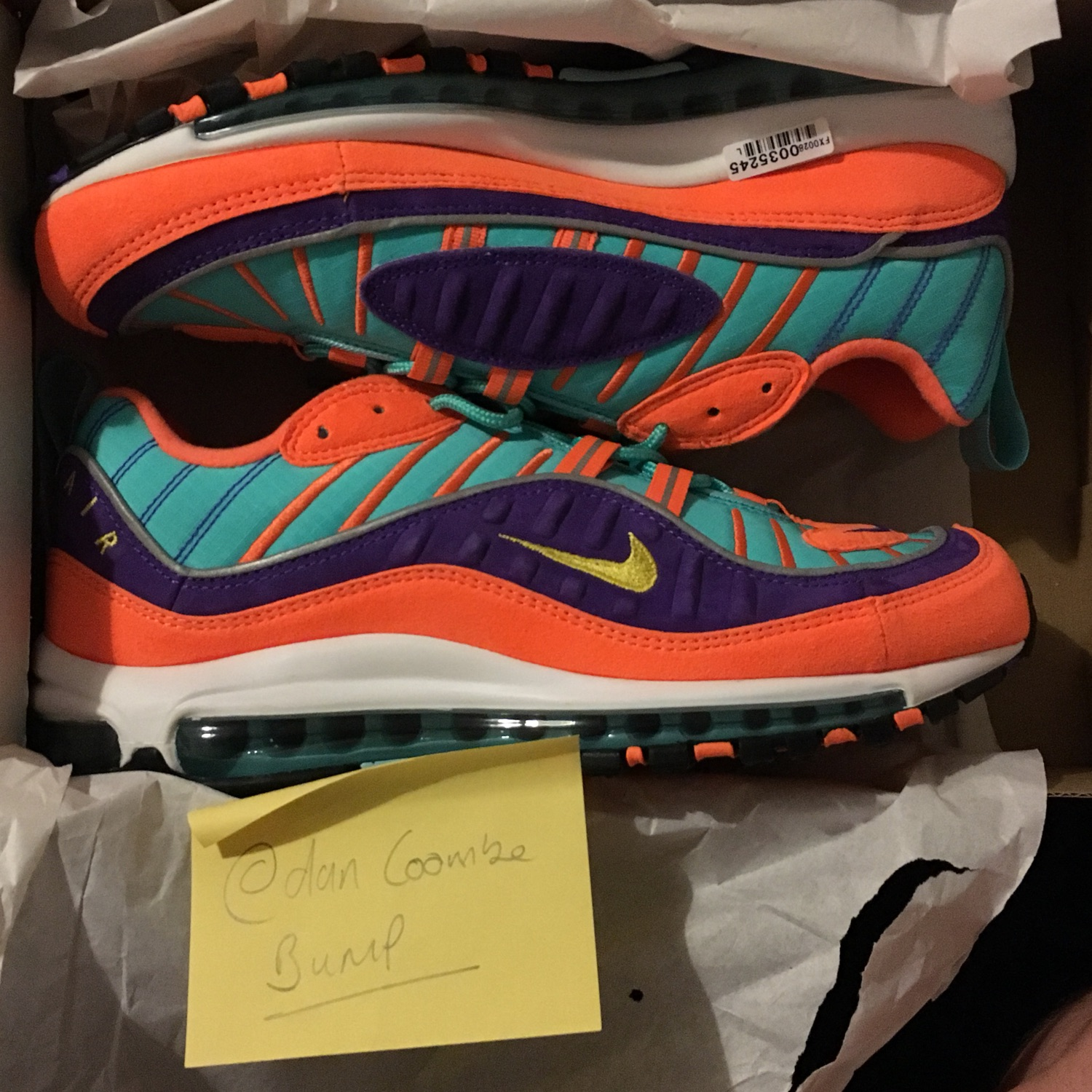 cheap for discount 8324a 15014 Nike Air Max 98 - Cone Vibrant Size Uk 8
