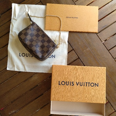 Mini pochette Louis Vuitton damier ebene