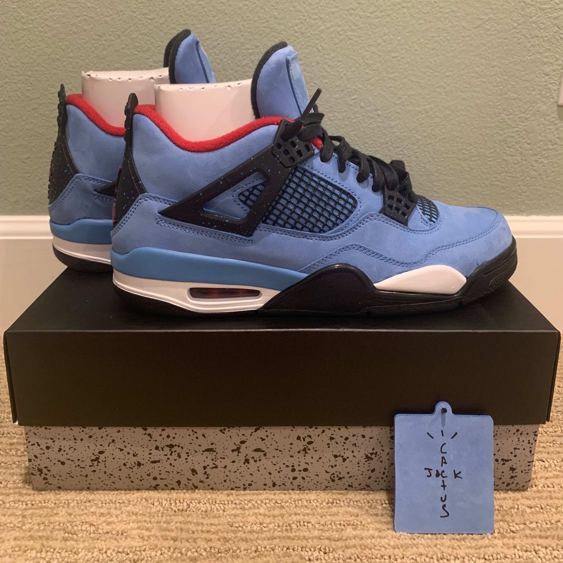 more photos e9b15 f9b9c Nike Air Jordan 4 Travis Scott Cactus Jack Size 9