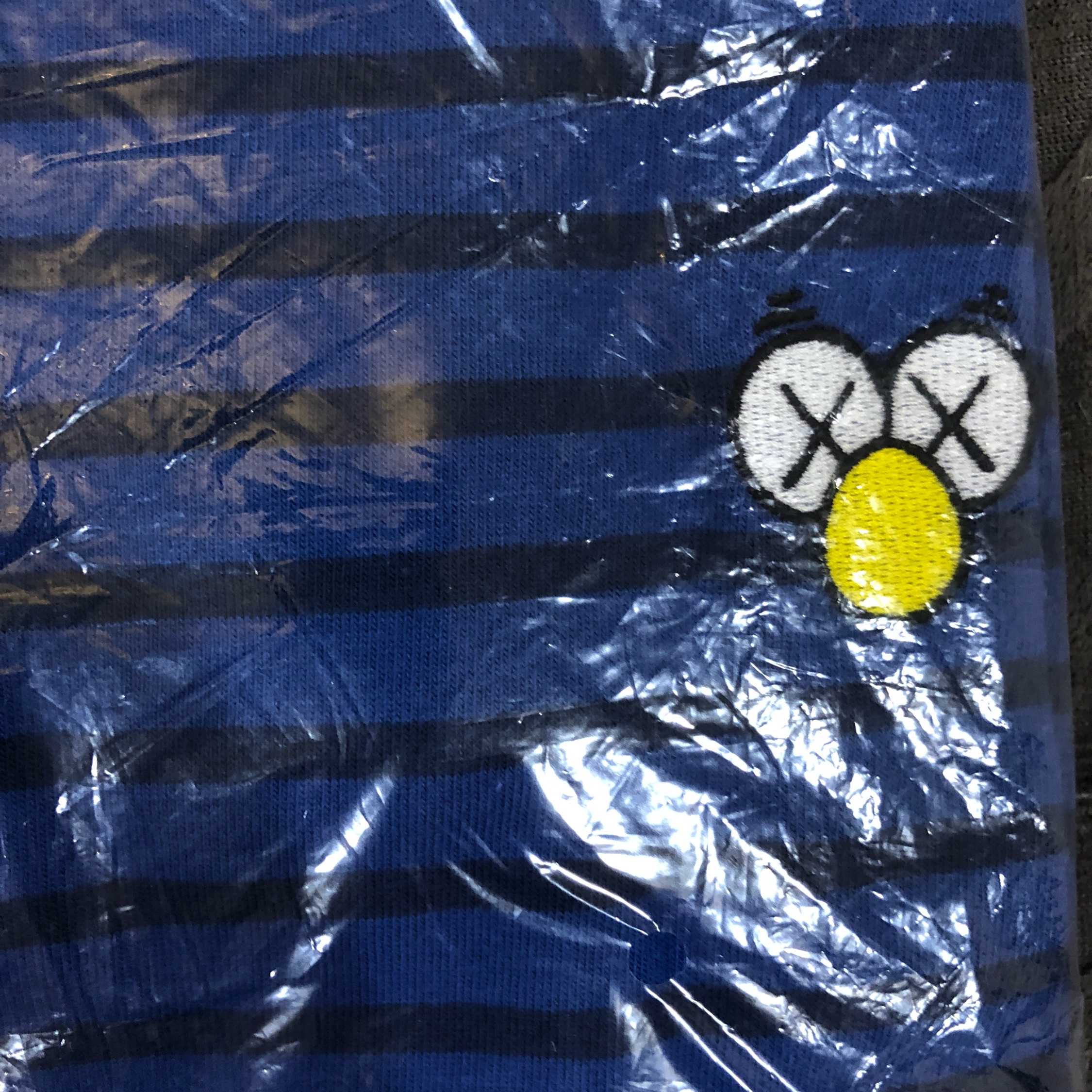 Last Kaws X Uniqlo Collaboration Blue Striped (M)