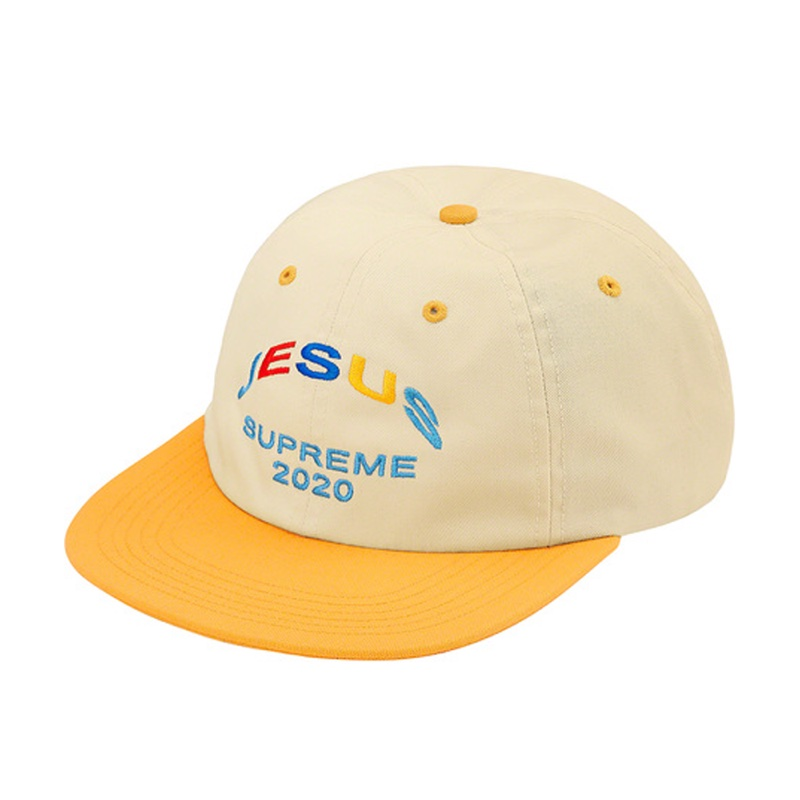 Supreme Jesus 6-Panel Yellow