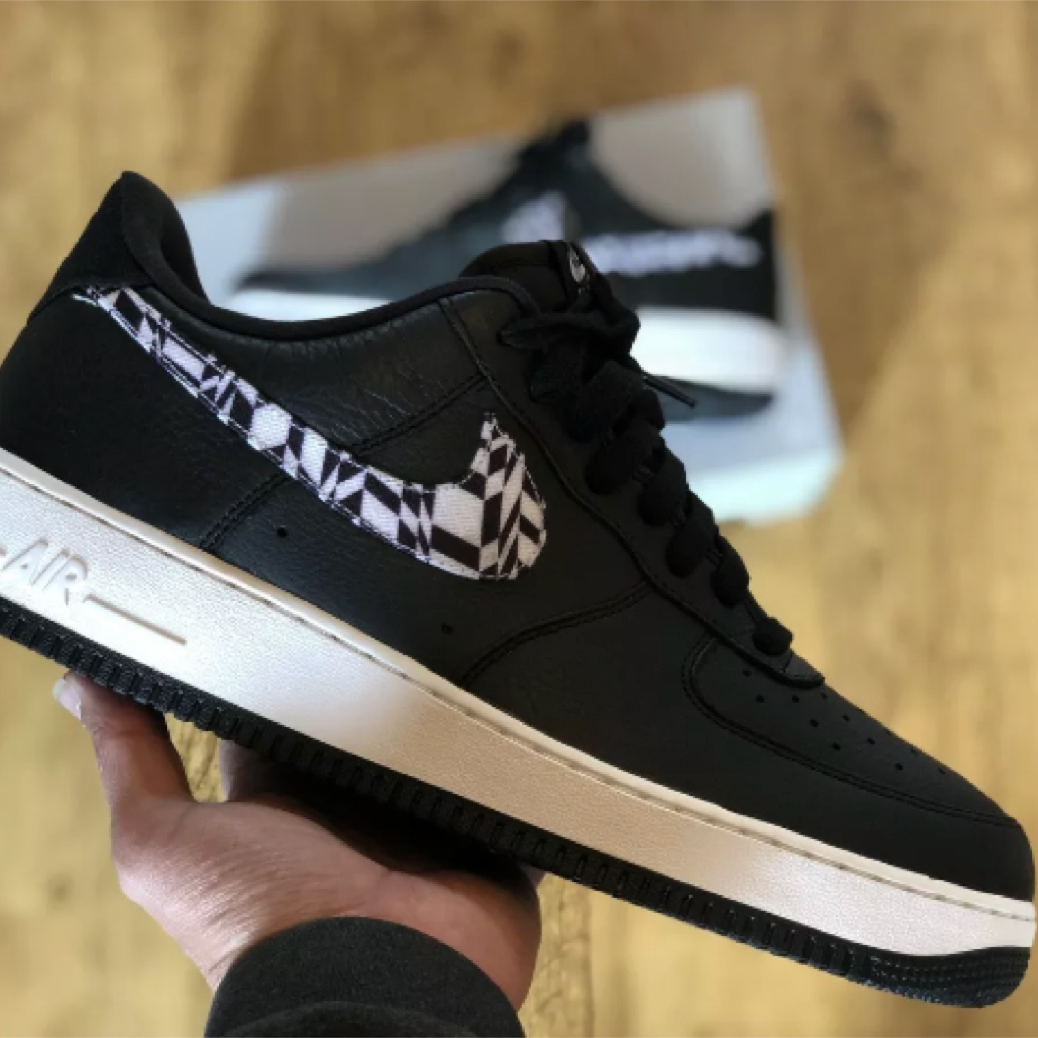 Nike Air Force 1 Aop Prm Black White