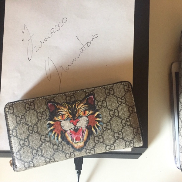 Gucci Wallet Angry Cat