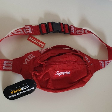 SS18 Supreme red waist bag Cordura Fabric