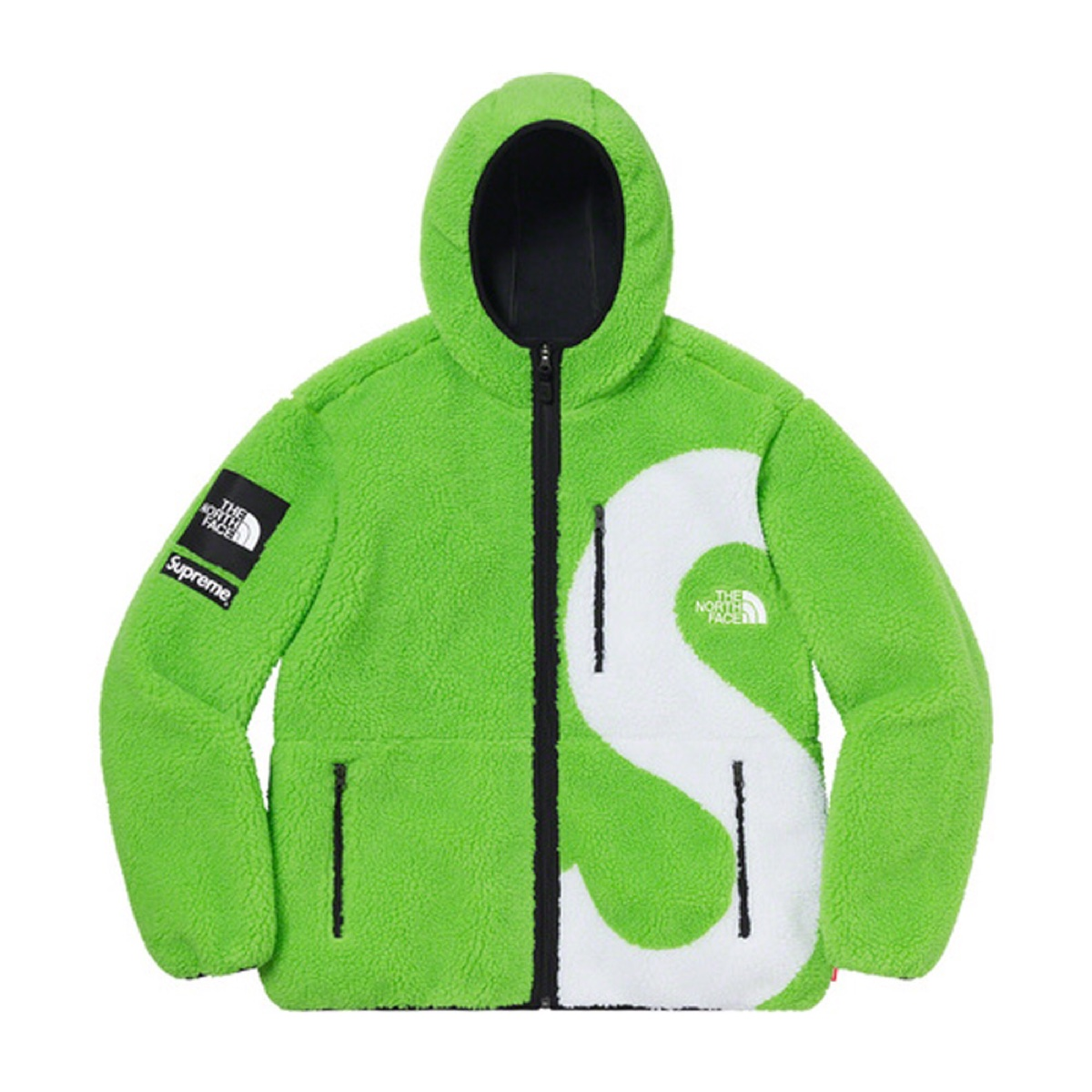 Supreme The North Face S Logo Hooded Fleece Jacket Green