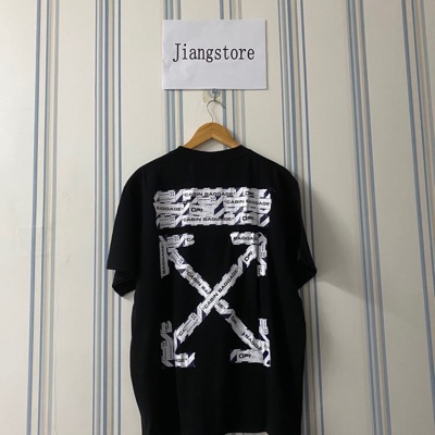 Offwhite Airport Tape Black Tee