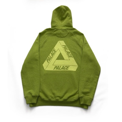 Palace Slub Hood Green Size Xl