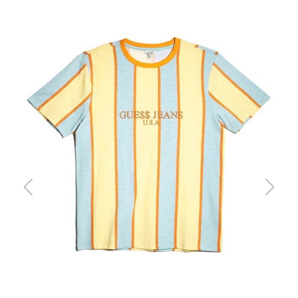 Guess X A$Ap Rocky Striped Short Sleeve Tee