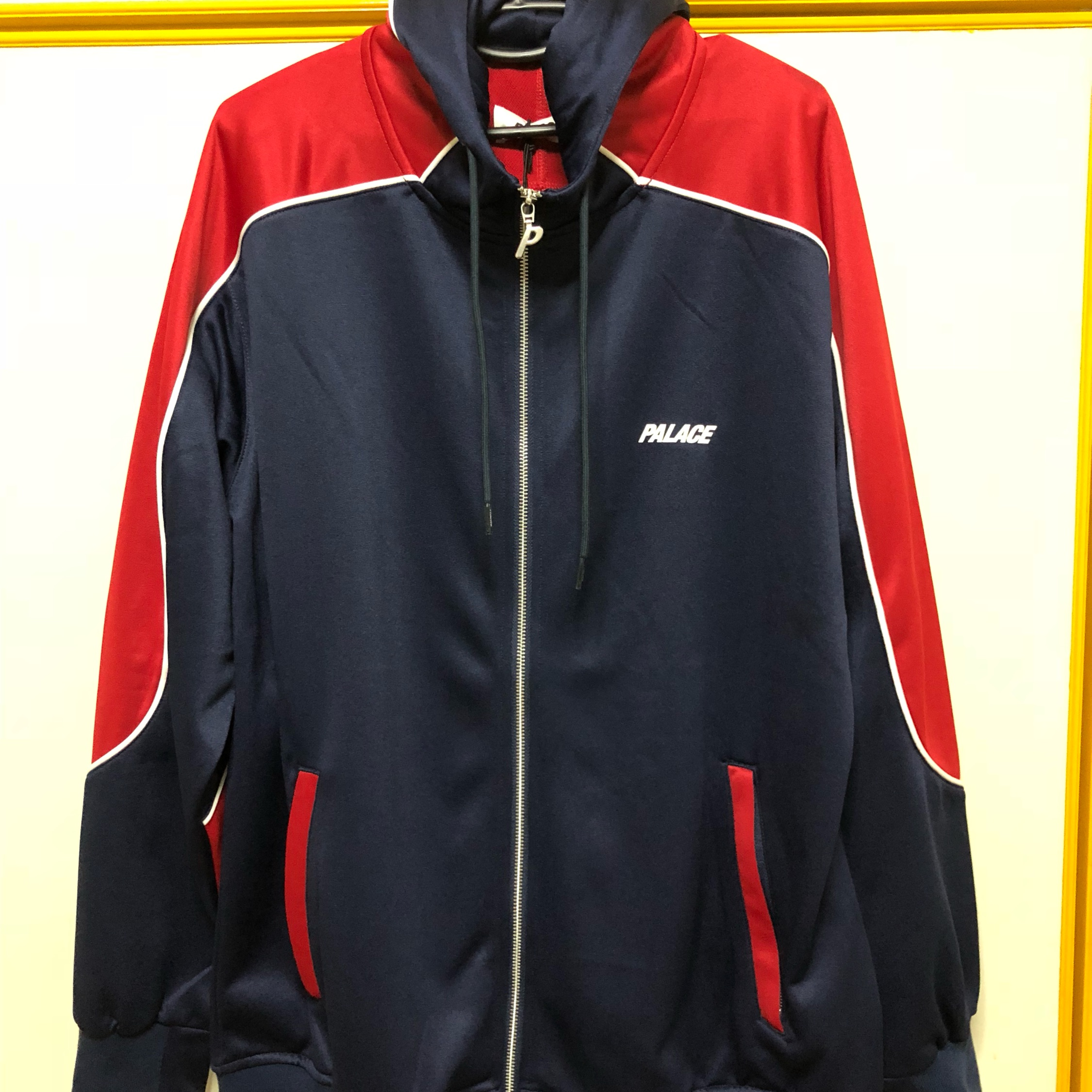 Palace Pipeline Hooded Navy/Red Xl