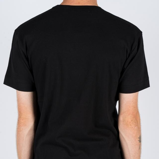 Black CDG PLAY T-Shirt with red heart