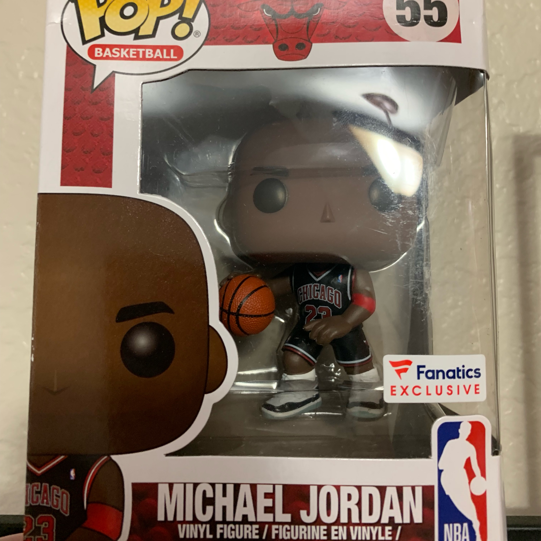 #55 Exclusive NBA Bulls Michael Jordan Vinyl Figure POP Black Jersey