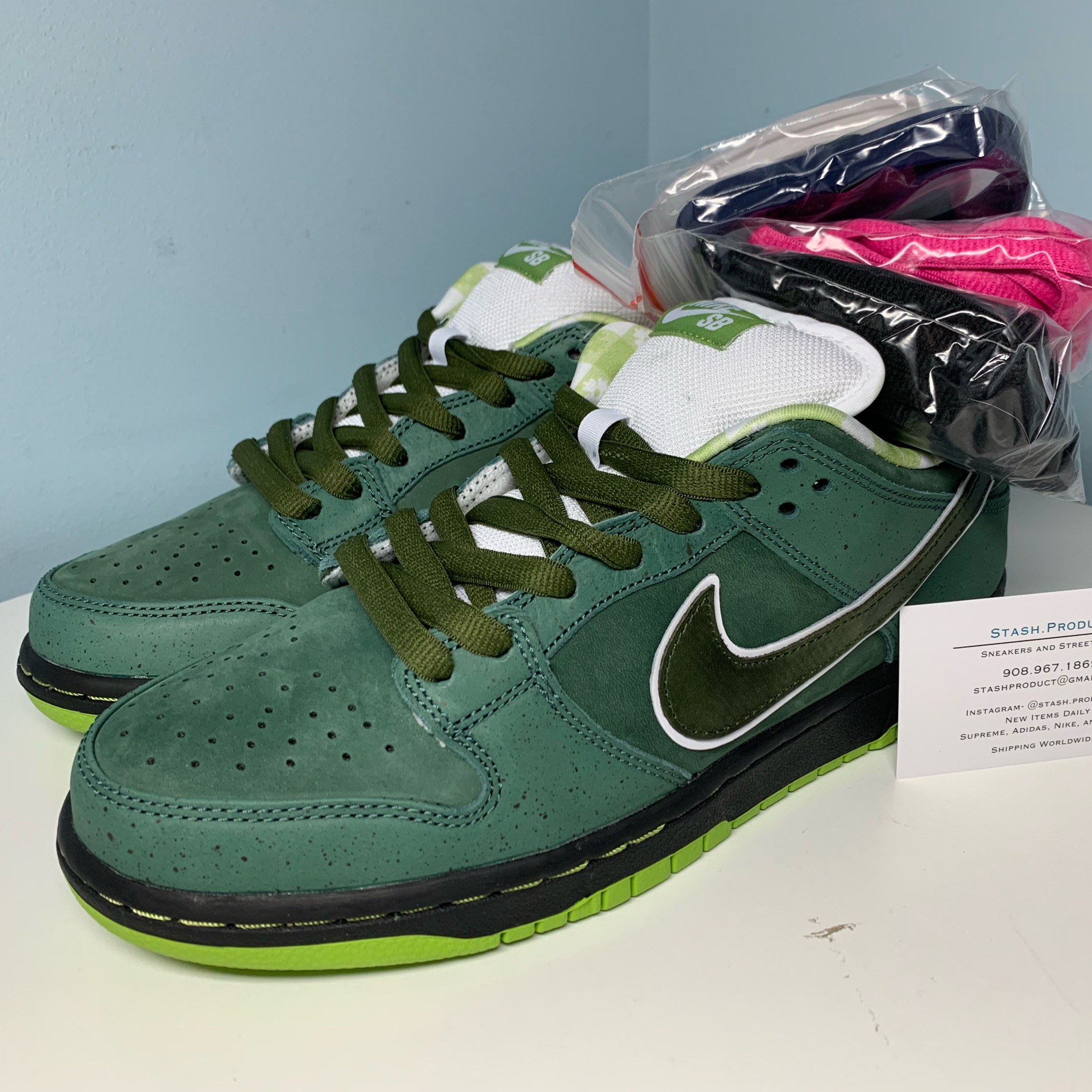 Concepts Nike Sb Dunk Low Green Lobster