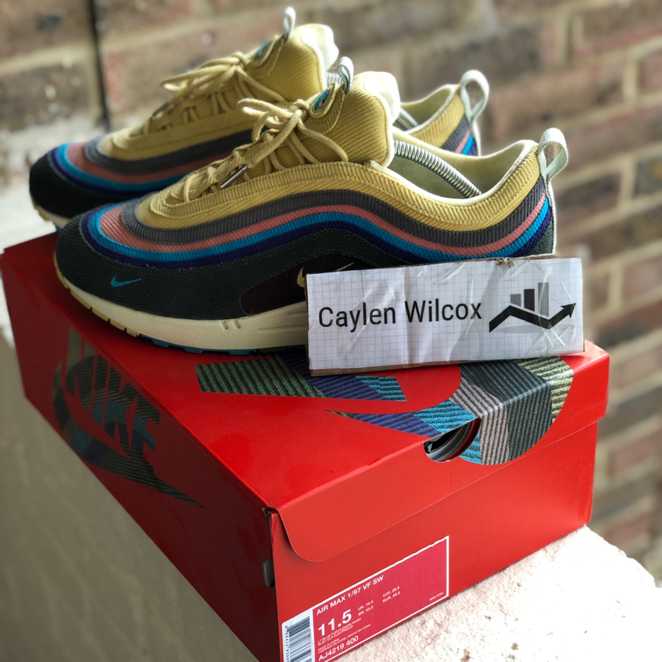 best service 842fa 37ae2 Nike Air Max 1/97 Sean Wotherspoon - Us11.5 Uk10.5