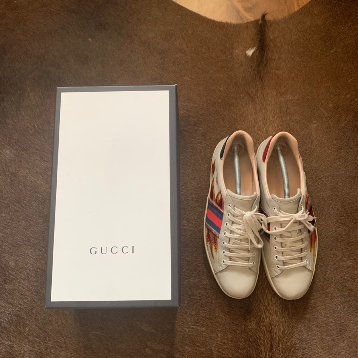 Gucci Ace Sneaker with Flames size: Gucci 10