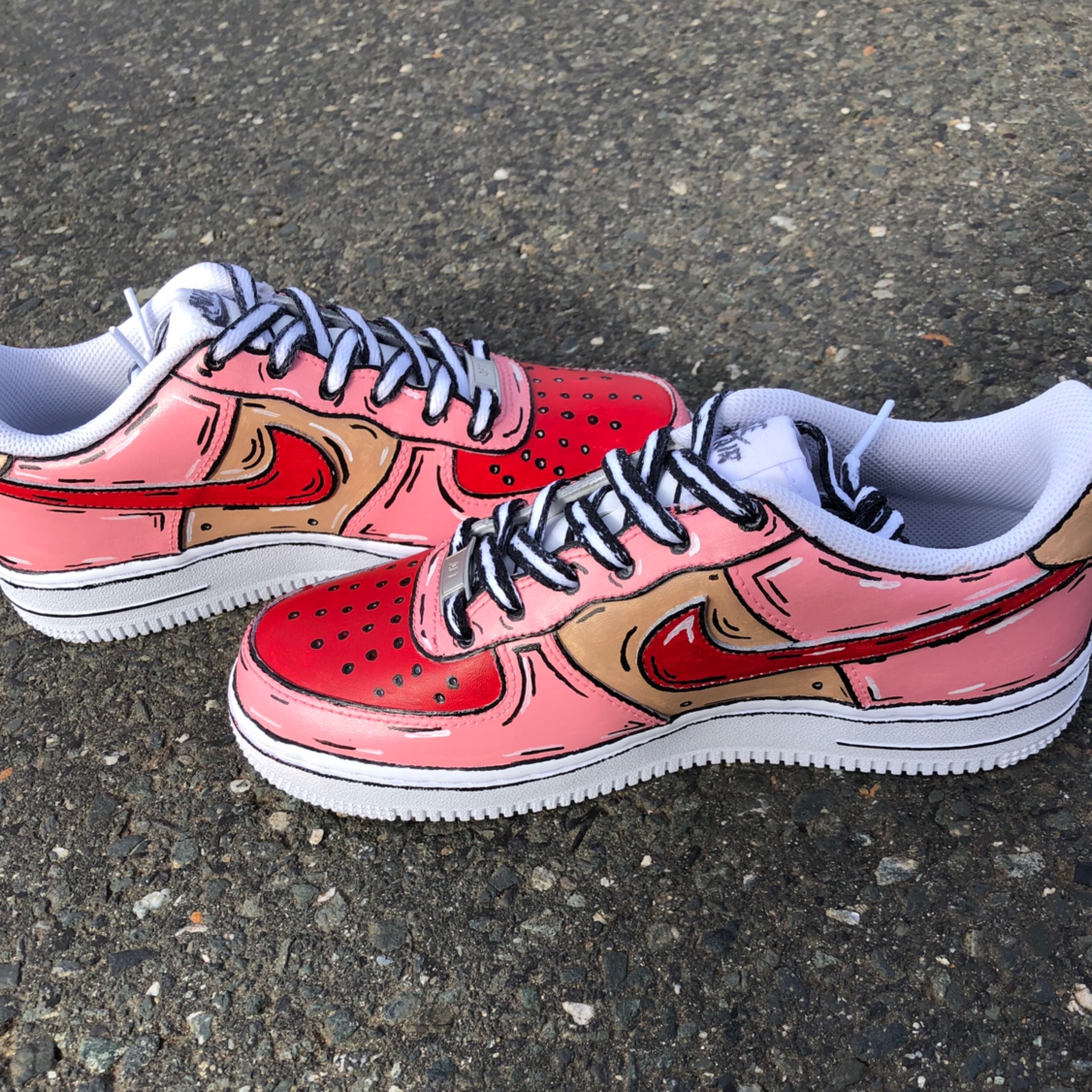 Custom Cartoon Nike Air Force 1 Neu Damenschuh 38