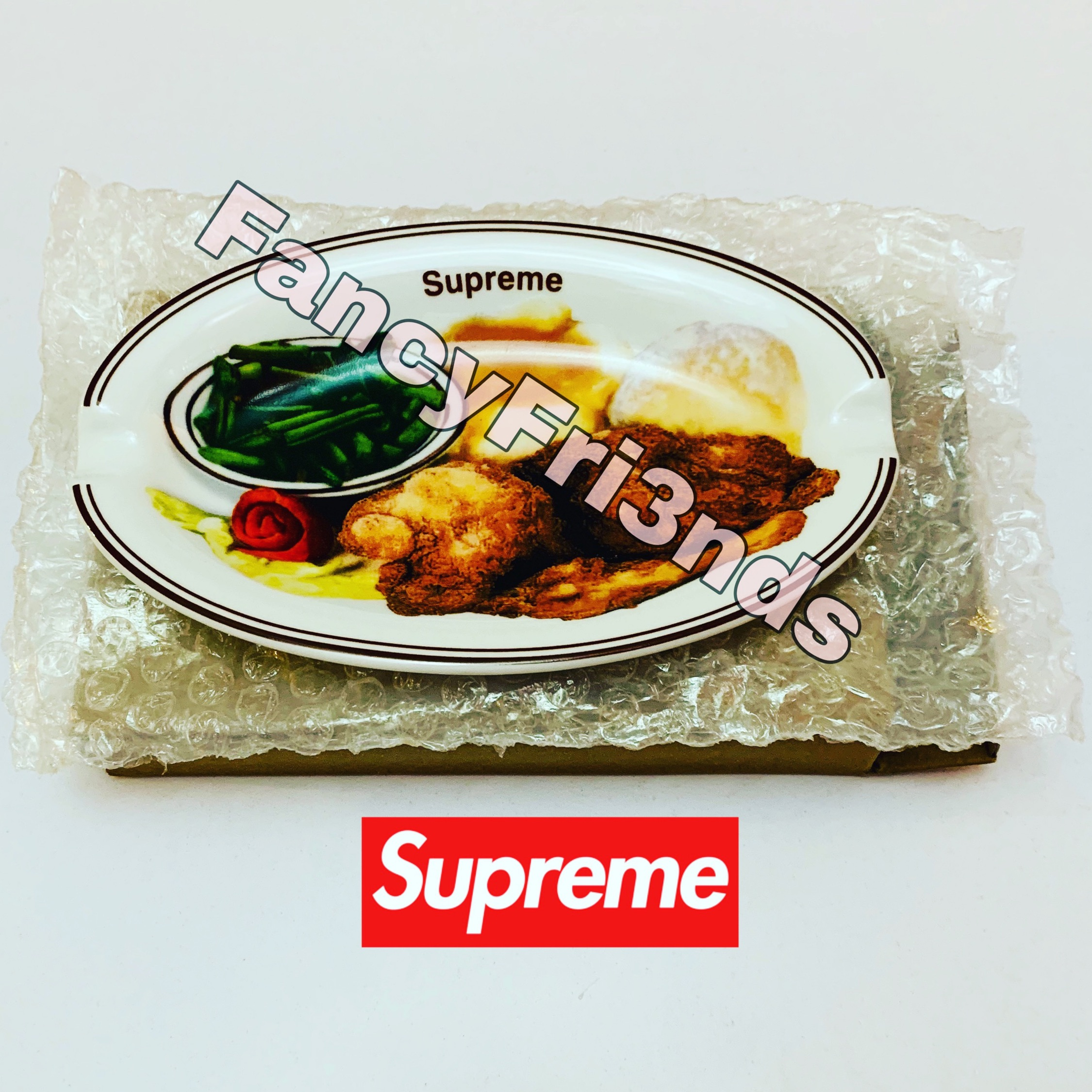 Supreme Chicken Dinner Plate Ashtrays