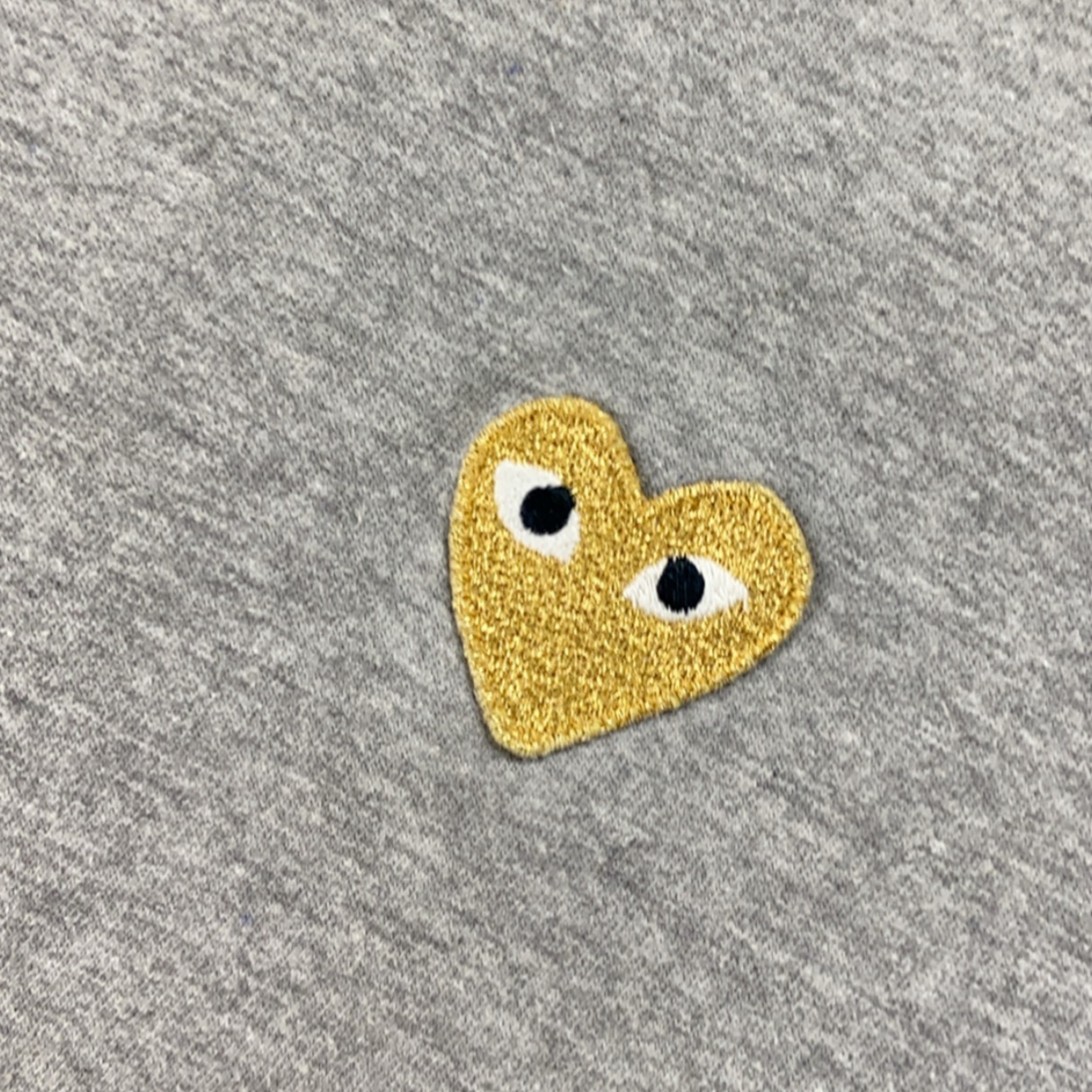Comme Des Garcons Grey Gold Heart Tee