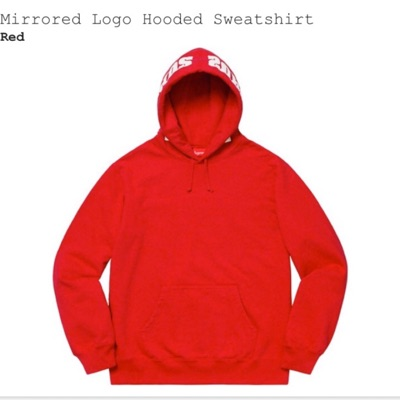 Supreme Mirrored Logo Hooded Sweatshirt