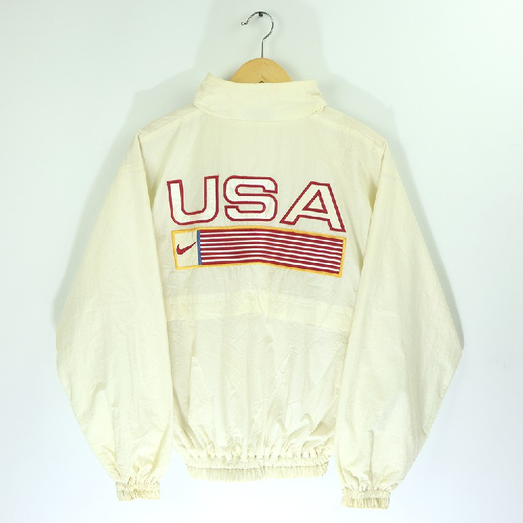 NIKE VINTAGE 90s NIKE USA TEAM WINDBREAKER UNITED STATES TRACK FIELD BIG LOGO