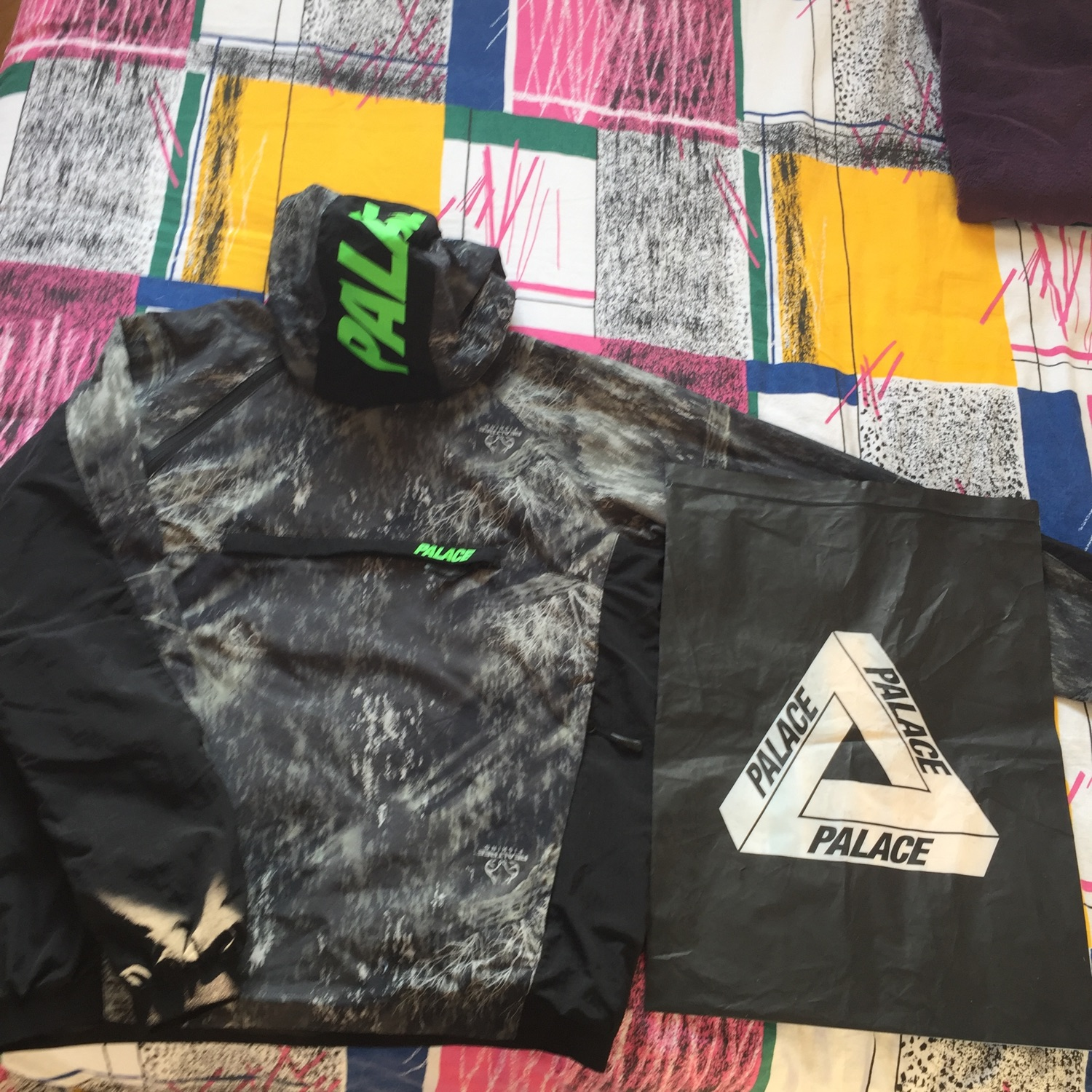 Palace Asymetric Real Tree Shell Top Black