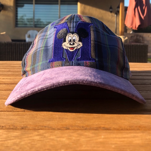 Vintage 90'S Plaid Mickey Mouse Hat(Free Shipping)