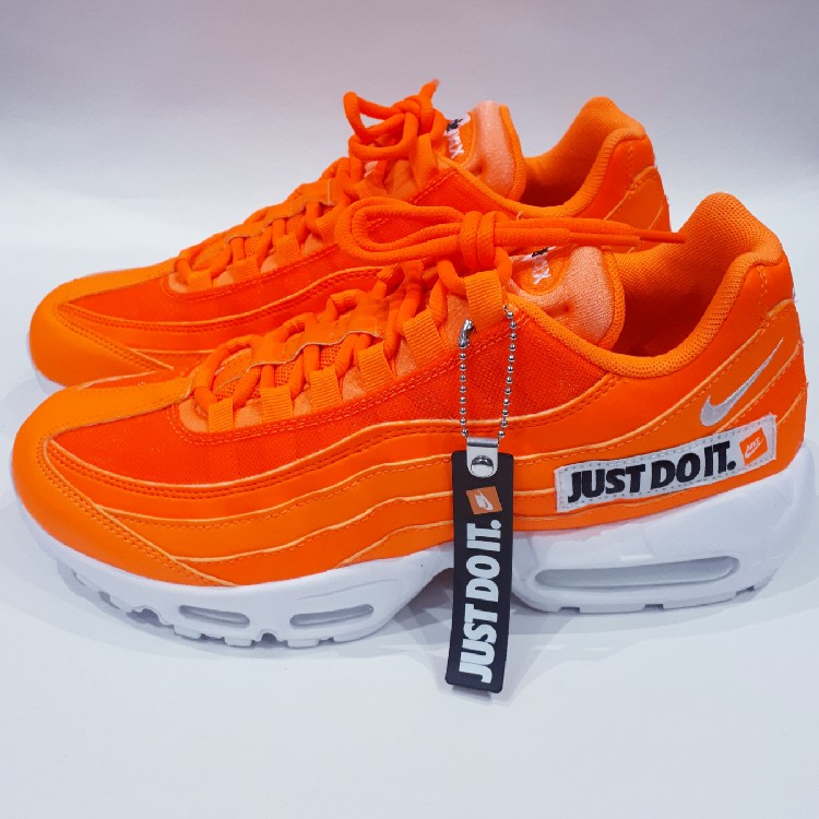 on sale f904b 8ec76 Total Orange/White/Black Mens Nike Air Max 95 Se 'Just Do It', UK 7, US 8