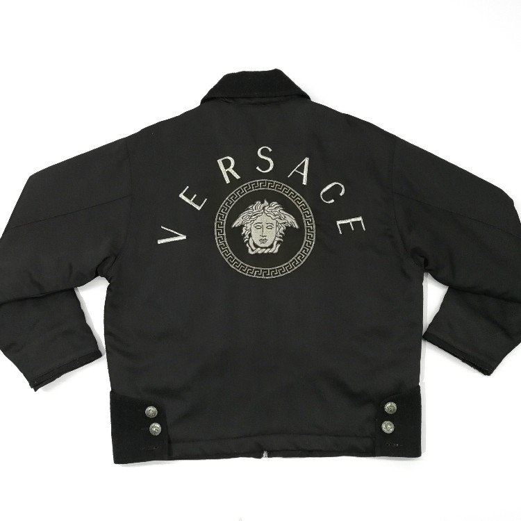 882b3697 Super Ultra Rare! Vintage Versace Jeans Couture Medusa Big Logo Embroidery  Made in ITALY XL Size Mens