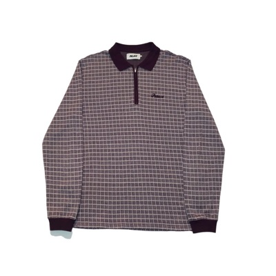 Palace Checker Zip Top Plum