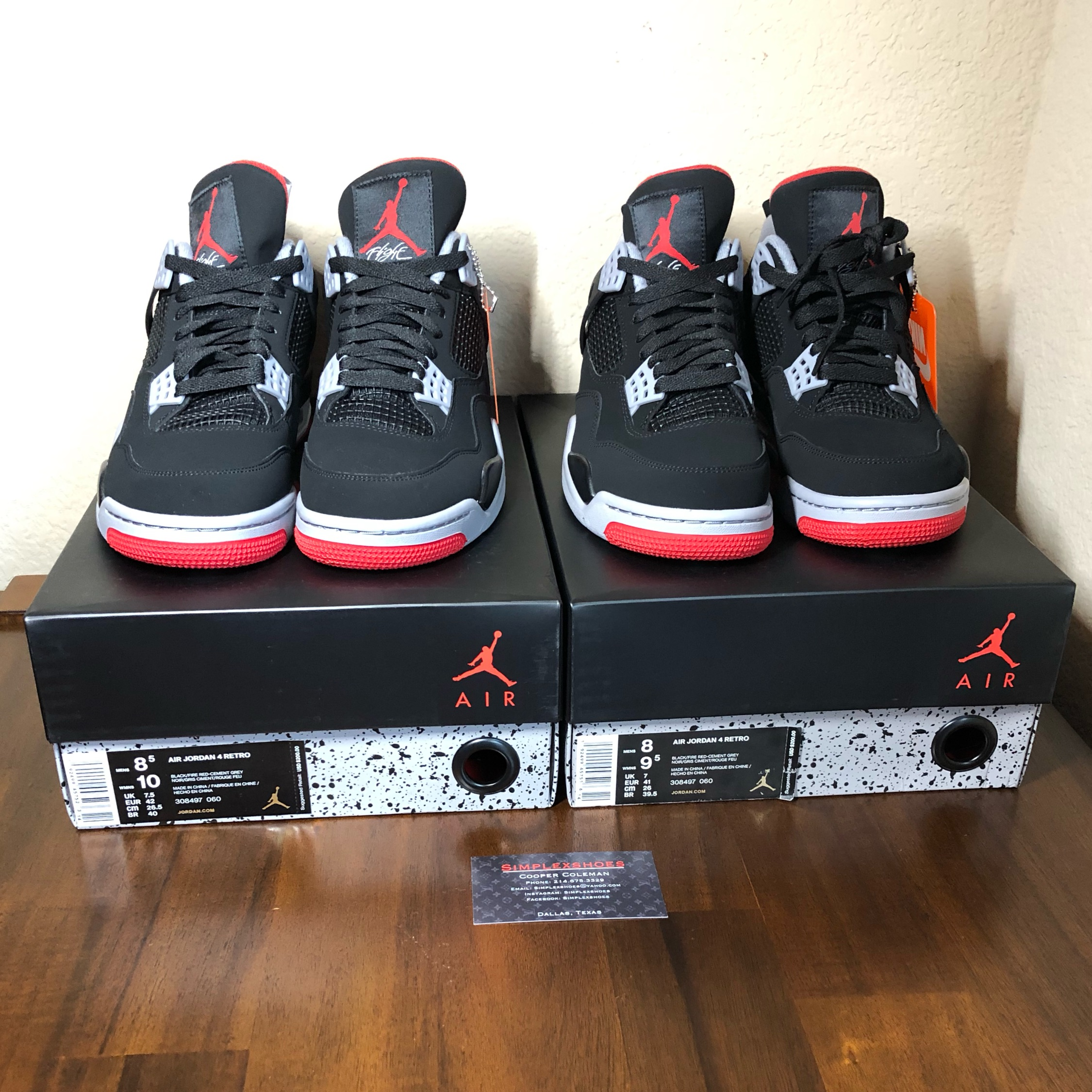 Ds Jordan 4 Bred Size 8 *Only 1 Pair*