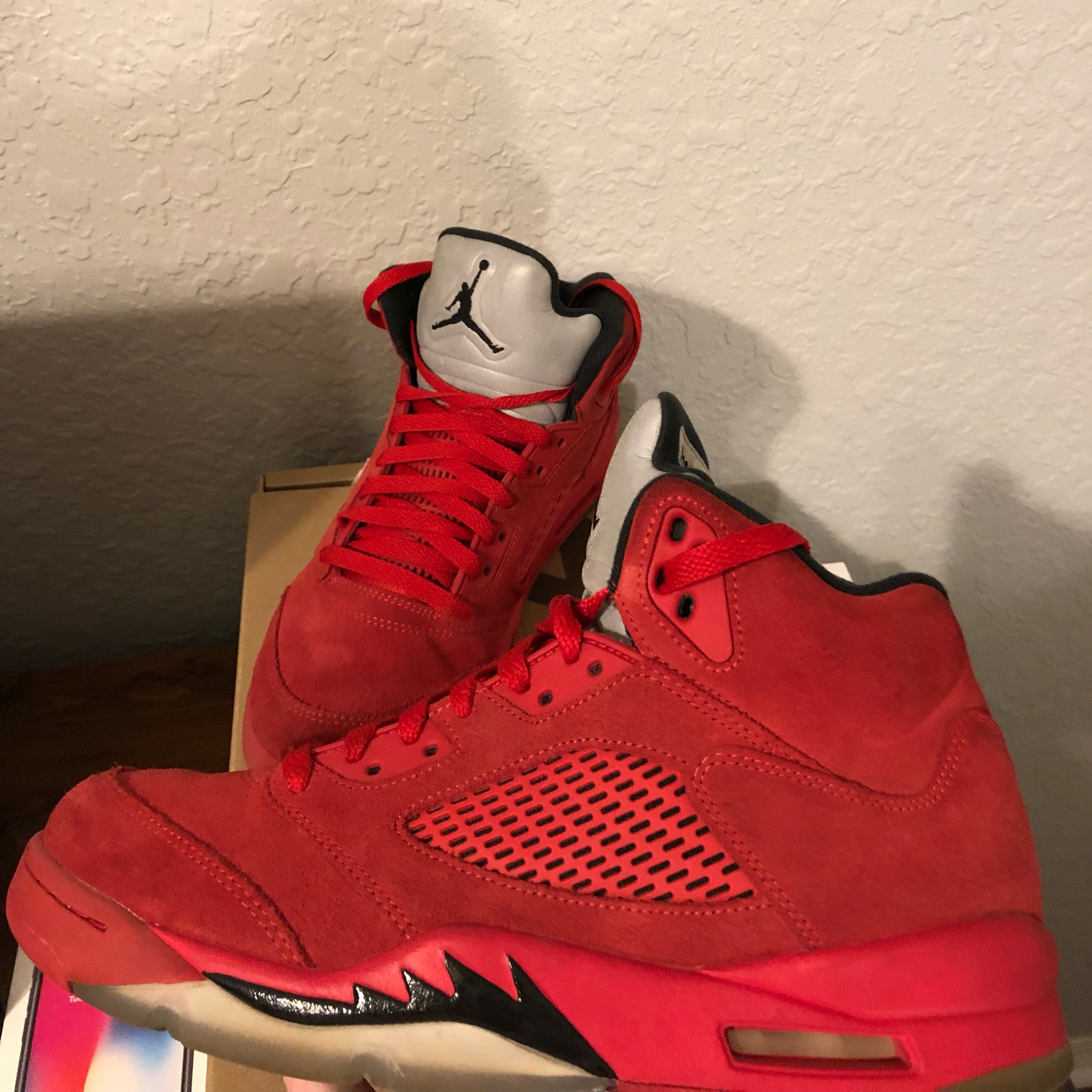 922fa88c8b79 Jordan 5 Red Suede Size 9.5 Used No Box