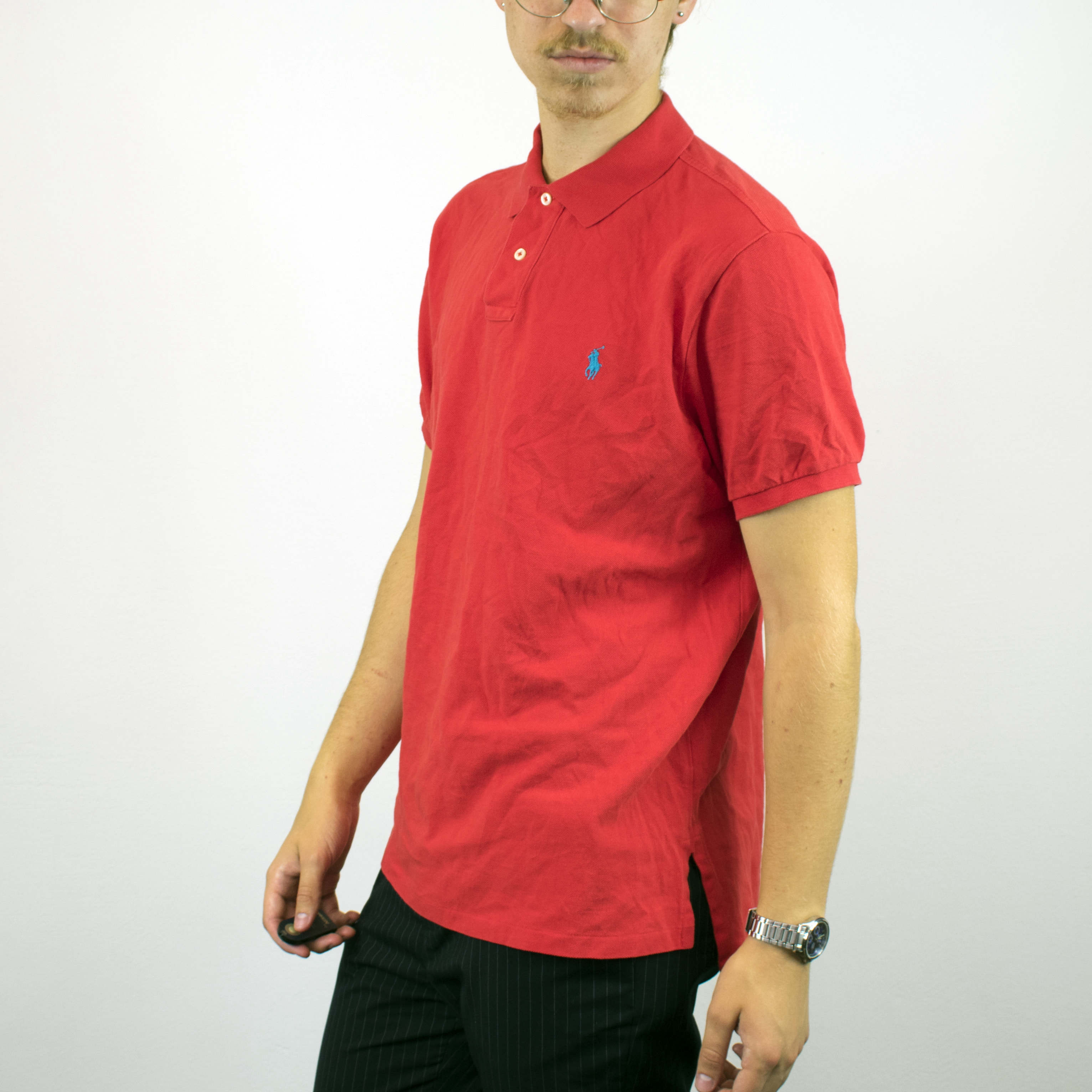 Vintage Ralph Lauren polo shirt t-shirt pullover in red