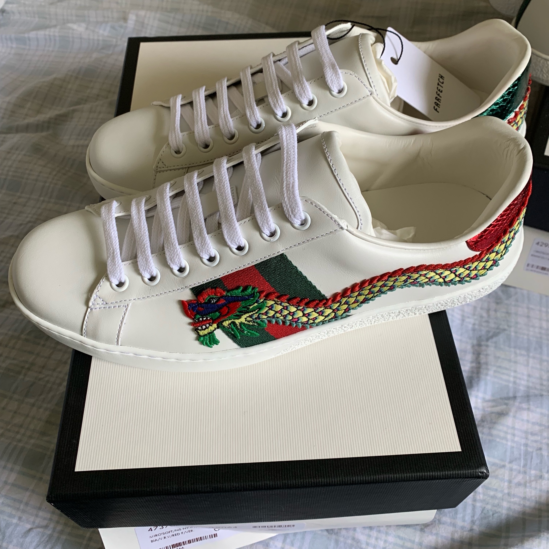 Gucci Dragon Ace Embroidered Leather