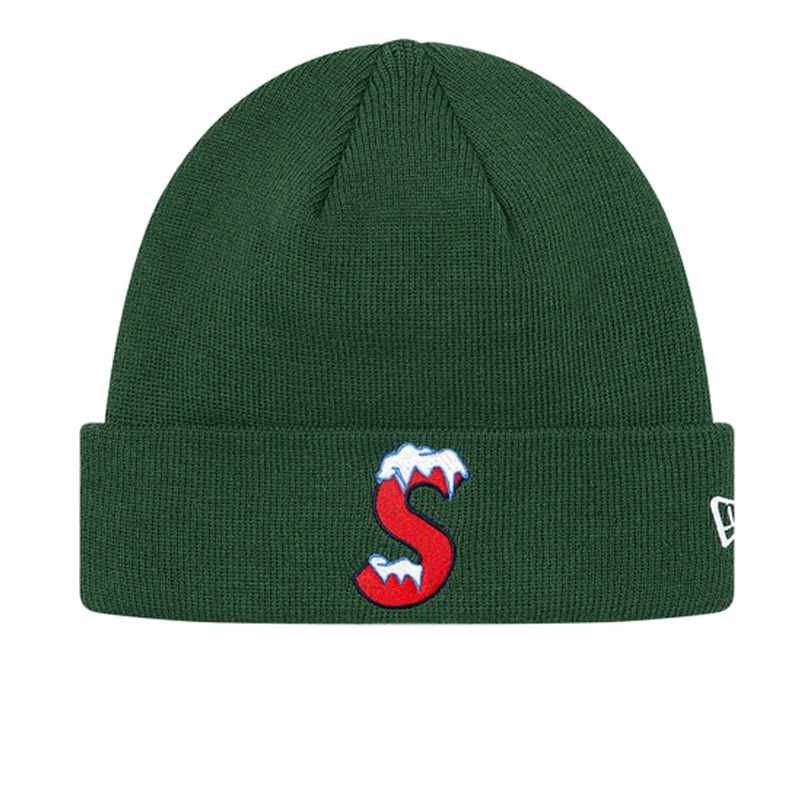 Supreme New Era S Logo Beanie Green