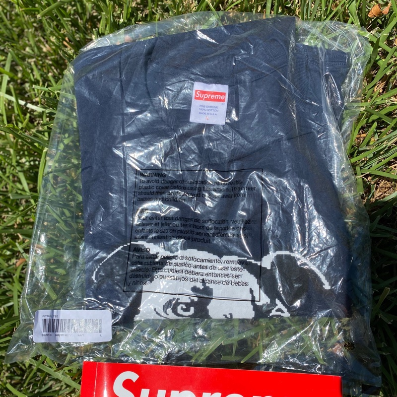 Supreme Pitbull Tee Navy